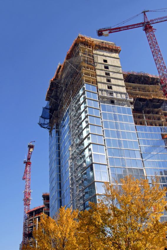 image of the construction of a commercial building