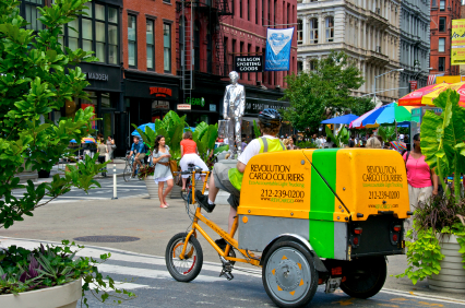 cargo bike in New York City