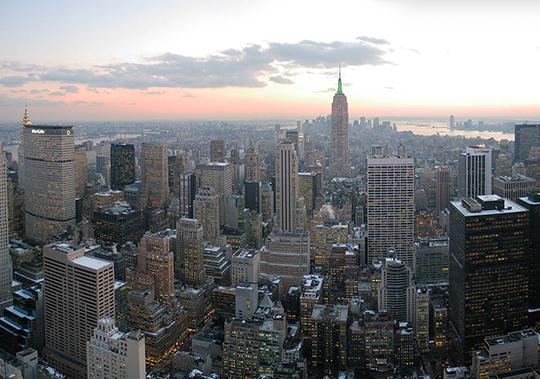 photo of the New York Skyline taken by Daniel Schwen in 2005 (Wikimedia)