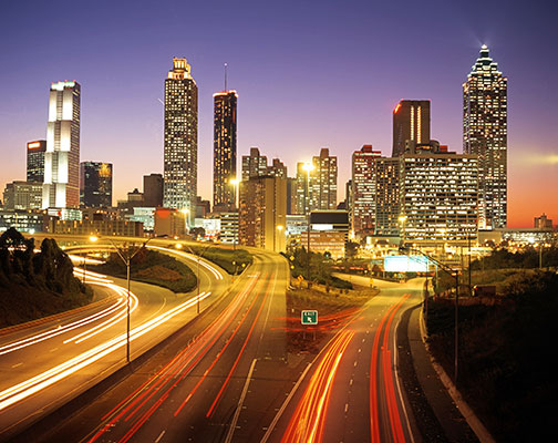 photo of Atlanta skyline at dusk | Sustainable Investment Group