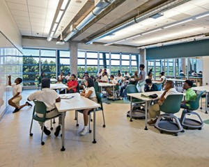 photo of lab | Green School | LEED Certified