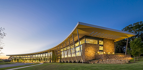 photo of Yates Campus Building in the evening