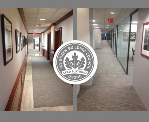 photos of Clarion Partners LEED Platinum Office Interior