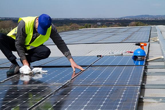 Solar Power Panel Installation