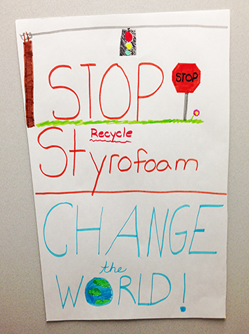 poster on Recycling Styrofoam | Sustainable Investment Group