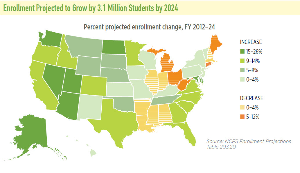 State of Our Schools Enrollment 2024 Map