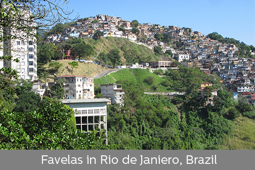 photo of favelas in Rio de Janiero, Brazil | Sustainable Investment Group