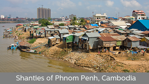 photo of shanties in Phnom Penh, Cambodia | Sustainable Investment Group (SIG)
