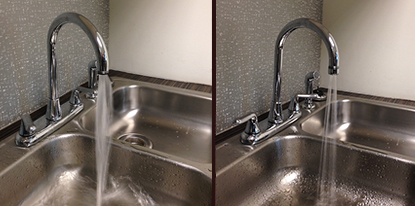 Faucet with and without an aerator