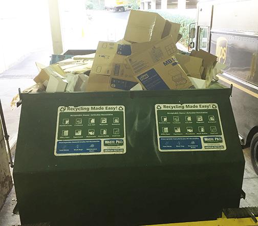 photo of recycling bin at Premier Plaza   Atlanta, GA   LEED points