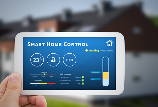 Photo of a Smart Home Thermostat