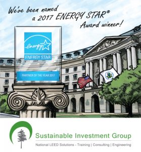ENERGY STAR Partner of the Year 2017 Award Image for Sustainable Investment Group (SIG), POY 2017, SIG wins 2017 POY, SIG earns 2017 POY, SIG earns ENERGY STAR Partner of the Year 2017, SIG earns partner of the year again, SIG is Service and Product Provider ENERGY STAR Partner of the Year