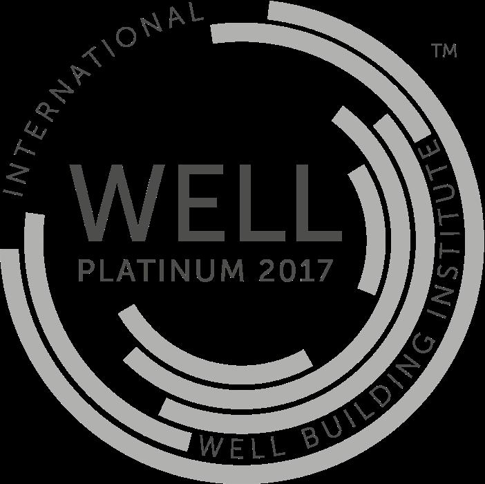 WELL Platinum 2017 logo - WELLness Real Estate's highest credential logo