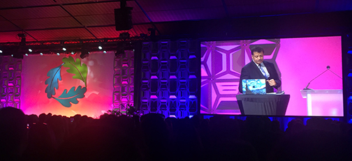 photo of Neil deGrasse Tyson speaking at Greenbuild 2017 in Boston | Top Greenbuild Takeaways and Highlights 2017