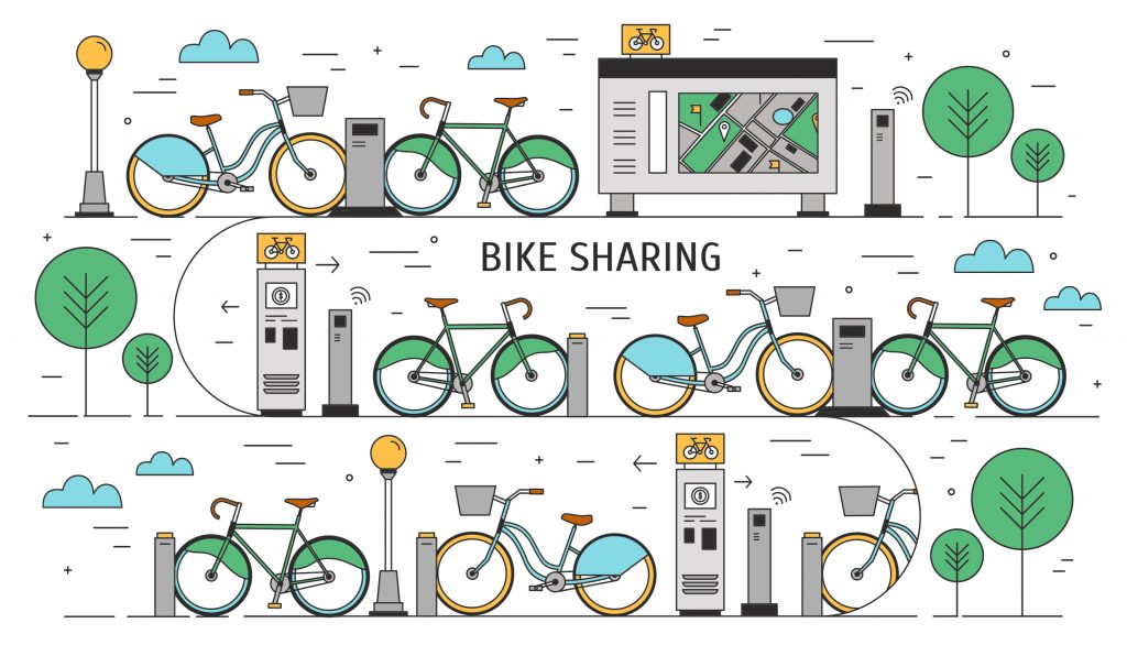 image of a bike share infographic | Alternative Transportation