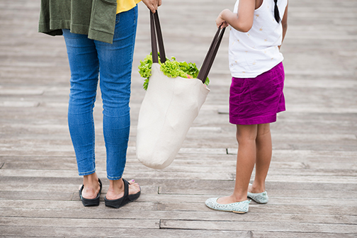 use reusable grocery bags | end plastic pollution | Earth Day 2018