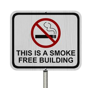 photo of a Smoke Free Building Sign | fitwel at work