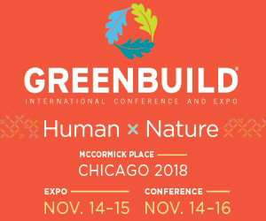 Greenbuild 2018 logo | Human x Nature
