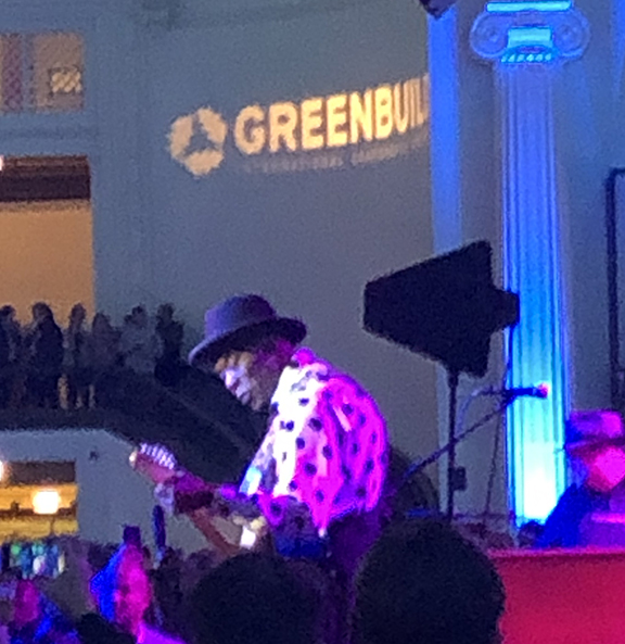 photo of Buddy Guy at Greenbuild 2018