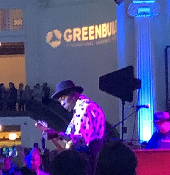 photo of Buddy Guy at Greenbuild 2018