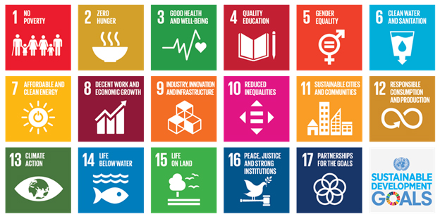 17 icon images for Sustainable Development Goals