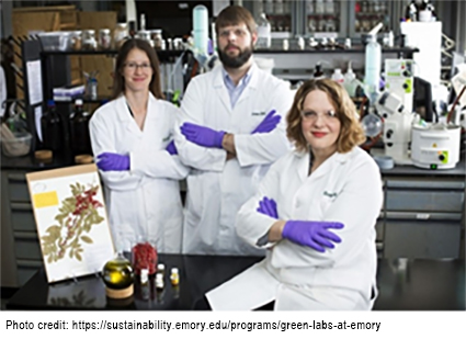 photo of three scientists at Emory University