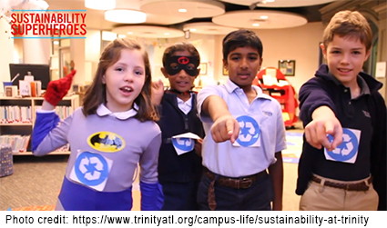 photo of 4 Sustainability Heroes at Trinity School in Atlanta, GA