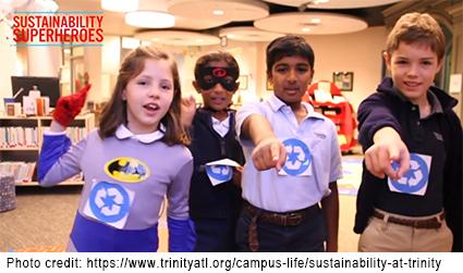 photo of 4 Sustainability Heroes at Trinity School in Atlanta, GA