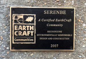 Earth Craft Community Plaque at Serenbe, GA