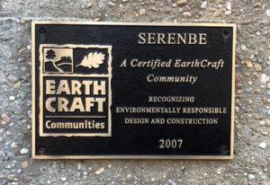 Earth Craft Community Plaque at Serenbe, GA