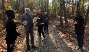 Steve Nygren leades tour of Serenbe, GA | 2019 Greenbuild
