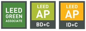 image of 3 LEED credentials for construction sites