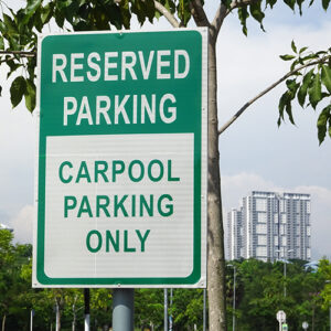 photo of reserved parking sign