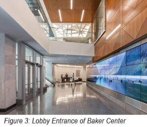 photo of lobby entrance of Baker Center