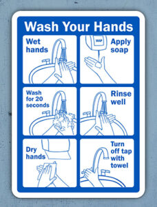 hand washing sign | wash you hands