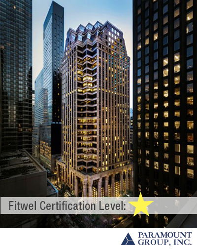31 West 52nd Street | Fitwel 1 Star Rating