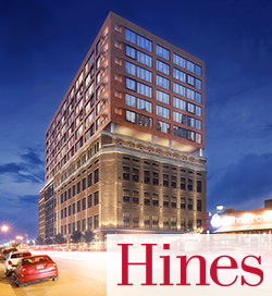 rendering of The Stack with Hines logo | SIG