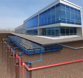 geothermal power for a commercial bldg