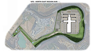site plan for UPS North East Region Hub site plan