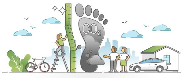 illustration of carbon footprint